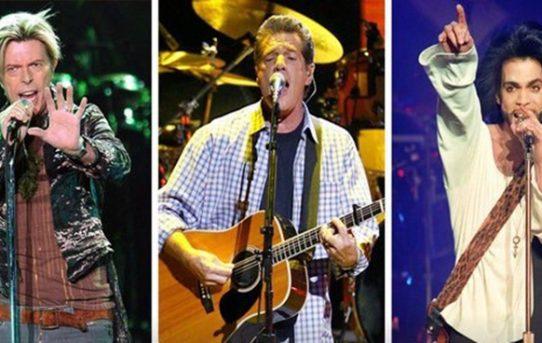 David Bowie, Glenn Frey e Prince